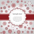 Template design congratulatory Christmas or New Year's card — Stok Vektör