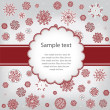 Template design congratulatory Christmas or New Year's card — Stockvectorbeeld