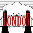 London. Tower bridge. vector — Stock Vector