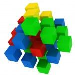 Puzzle cube explosion — Stock Photo #4653455