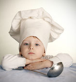 The sad cook — Stock Photo