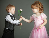 The little boy and the girl — Stock Photo