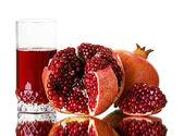 Fresh garnet juice — Stock Photo