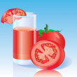 Fresh tomato  juice — Stock Vector