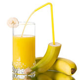 Fresh banana juice — Stock Photo