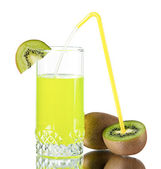 Fresh juice of a kiwi — Stock Photo