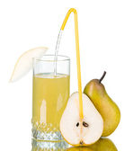 Fresh pear juice — Stock Photo