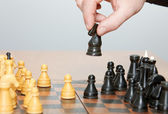To play chess — Stock Photo