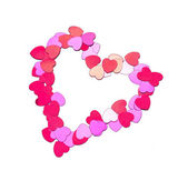 Confetti heart — Stock Photo