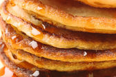 Pancakes stack close-up — Stock Photo