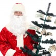 Santa Claus and the Money Tree — Stock Photo