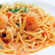 Linguine with Shrimp — Stock Photo
