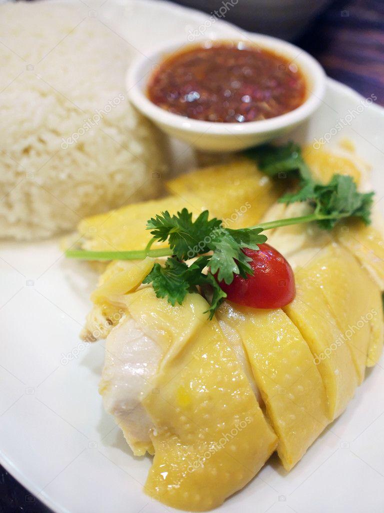 Хайнаньский рис с курицей