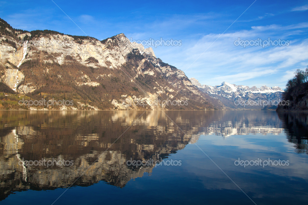 Switzerland - Walensee lake nr  St. Gallen. Taken with Canon 7D and Sigma 17-50mm f2.8 Lens — Stock Photo #4902379