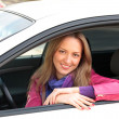 Woman Sitting In Car — Stock Photo