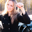 Happy owner of a new car. — Stock Photo #3999960