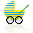 Stock Vector: Baby Carriage