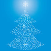 Абстрактный Рождественская елка из снежинок — Cтоковый вектор