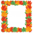 Fall leaf border — Stock Vector