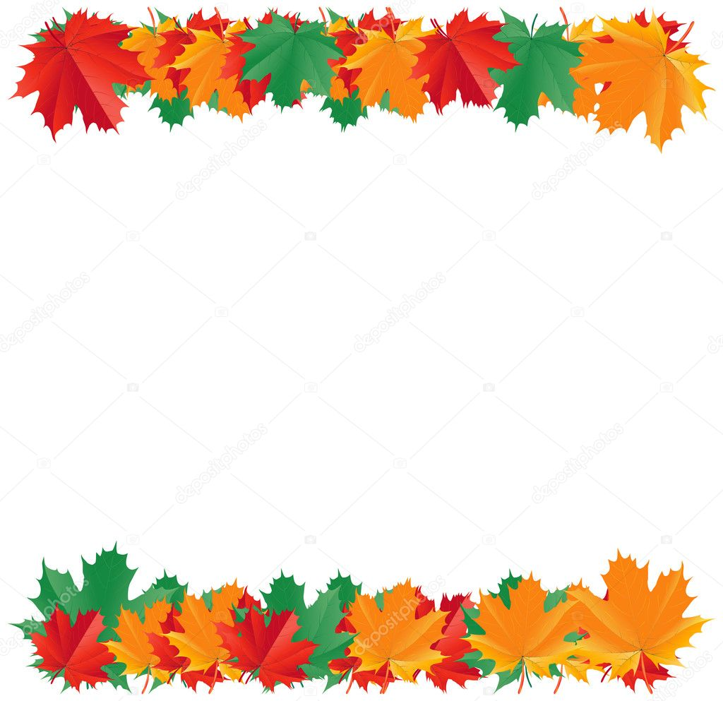 Fall Leaves Page Border http://depositphotos.com/4239830/stock-illustration-Fall-leaf-border.html