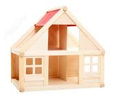 Dom zabawka na białym tle. — Zdjęcie stockowe