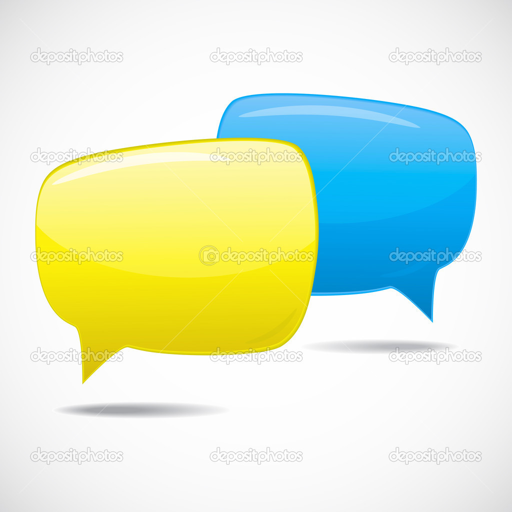 Speech bubbles, conversation in progress  Stock Vector #4539472