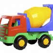 Stock Photo: Cement Mixer Truck isolated on white.