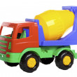 Cement Mixer Truck isolated on white. - Stock Photo