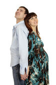 Husband and pregnant wife — Stock Photo