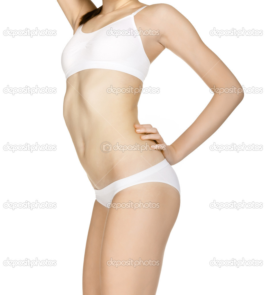 Sexy lady isolated on white — Stock Photo #4832977