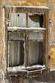 Okna opuszczony dom — Zdjęcie stockowe