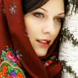 Stock Photo: Gorgeous womin shawl.