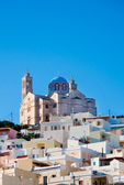 The famous church on the island of Syros Greece — Stock Photo