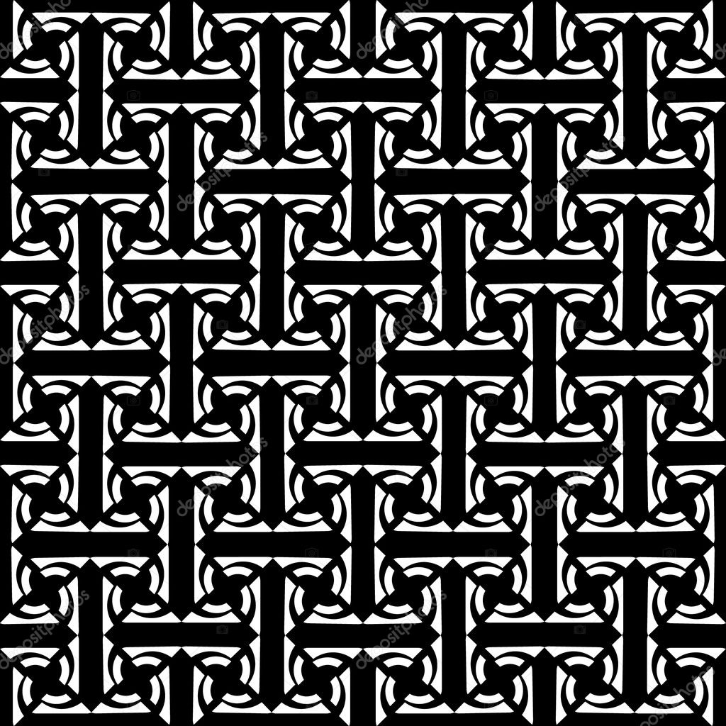 Seamless decorative labyrinthine pattern. Vector art. — Stock Vector #4049476