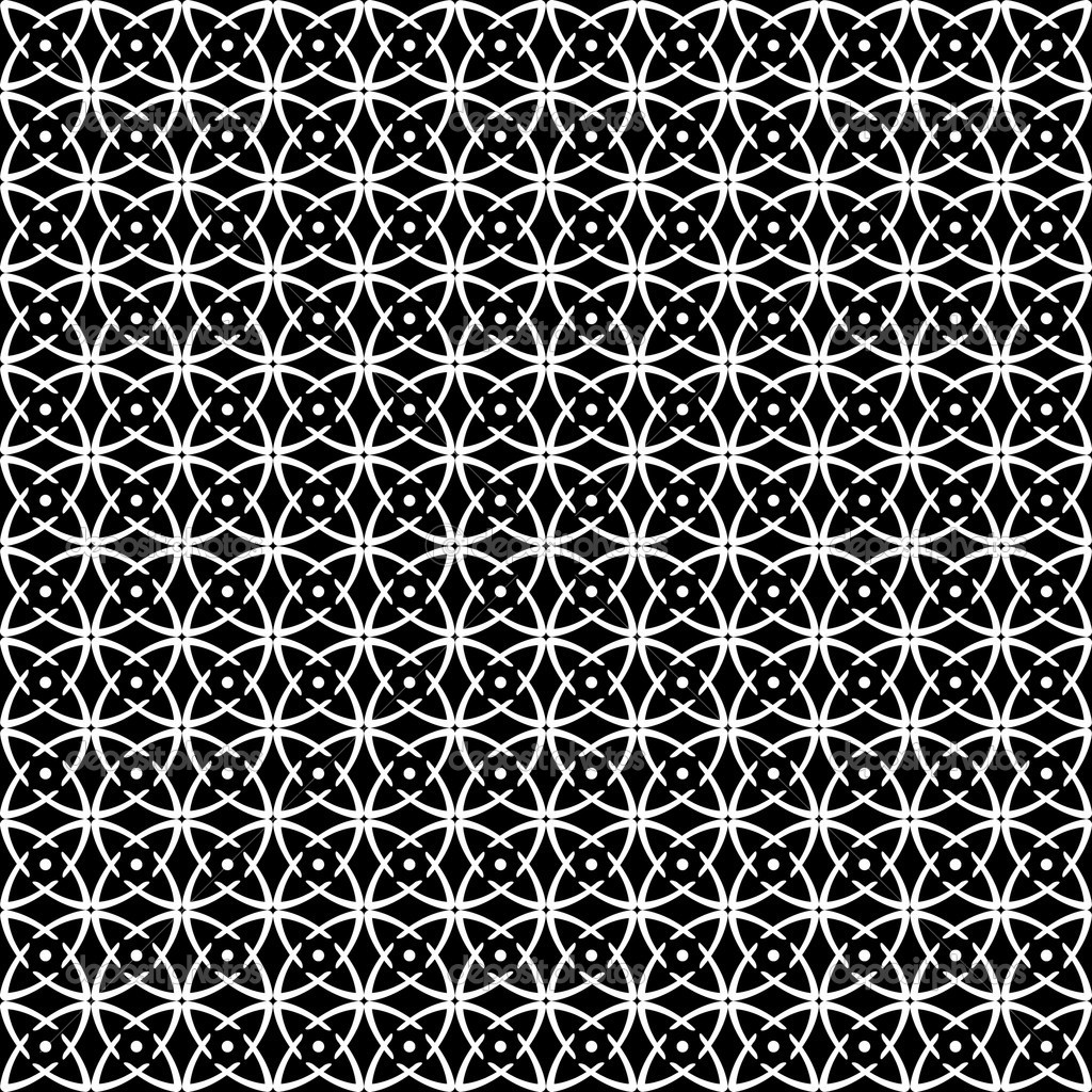 Seamless op art pattern. Black-and-white abstract texture. Vector art. — Stock Vector #4051746