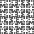 Royalty-Free Stock Vector Image: Seamless checked design. Geometric black-and-white pattern.