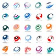 Spiral movement and rotation. Design elements set. — Stock Vector #4180063