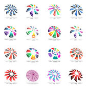 Design elements set with rotation. — Stock Vector