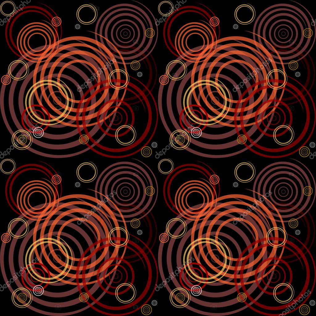 Seamless pattern with spiral elements. Stylish graphic design. Vector art.  Stock Vector #4553607