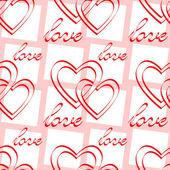 Love. Seamless pattern. — Stock Vector