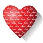 Love. Valentine card. — Stock Vector