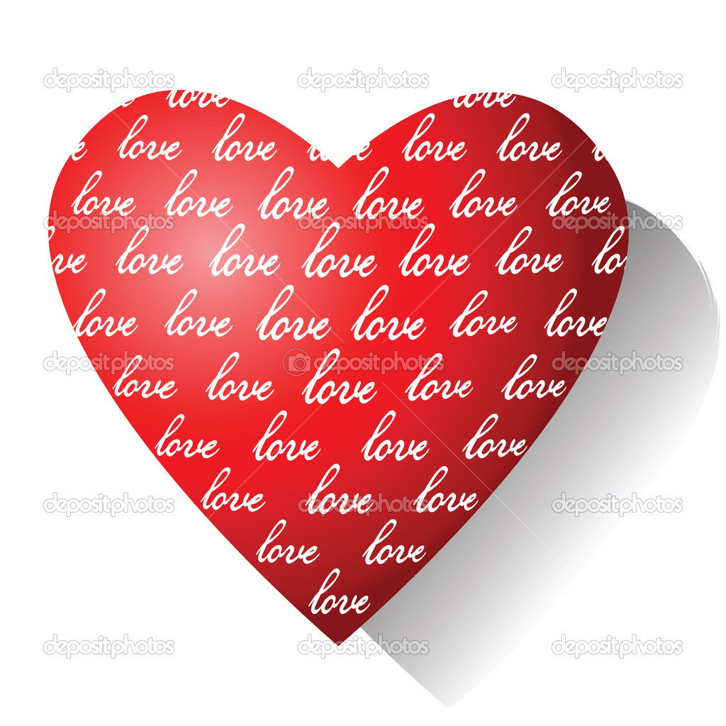 Love. Valentine card. Vector illustration.  Stock Vector #4717871