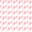 "Seamless pattern ""Love"". — Stock Vector"
