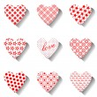 Heart icons set for valentines. — Stock Vector