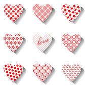 Icone cuore set per san valentino. — Vettoriale Stock