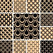 Seamless patterns set. — Stock Vector