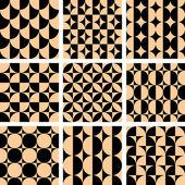 在 op 艺术设计中的无缝几何图案. — 图库矢量图片