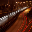 Stock Photo: Night highway