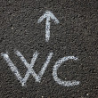 Stock Photo: WC sign