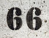 Sixty-six — Stock Photo